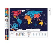 Постер Travel Map Holiday World от 1DEA.me