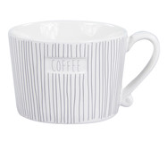 Кружка White Stripes Coffee Grey от Bastion Collections